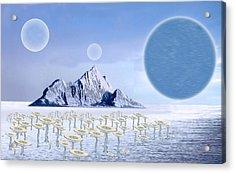 Icy Desert Acrylic Print by Piero Lucia