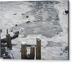 Acrylic Print featuring the photograph Icy Entrance  by Laura  Wong-Rose