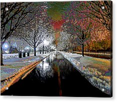 Icy Entrance To Keeneland Acrylic Print by Christopher Hignite