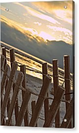 Icy Fence Acrylic Print by Dawdy Imagery