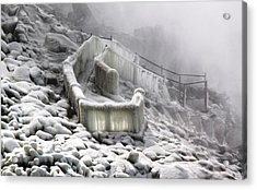 Icy Path Way Acrylic Print