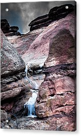 Icy Red Rocks  Acrylic Print