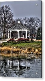 Acrylic Print featuring the photograph Icy Reflection by Deborah Klubertanz