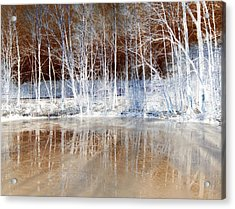 Icy Reflections Acrylic Print by The Creative Minds Art and Photography