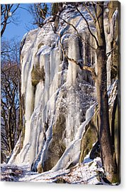 Icy Rocks Acrylic Print by Lutz Baar