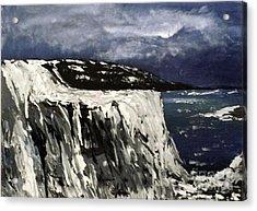 Icy Slope Acrylic Print