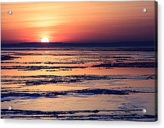Acrylic Print featuring the photograph Icy Sunrise by Jennifer Casey