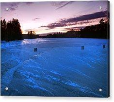 Icy Sunset Acrylic Print by Joann Vitali