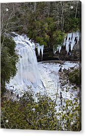 Icy Waterfall Acrylic Print by Susan Leggett