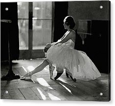 Ida Rubinstein Wearing A Tutu Acrylic Print