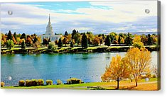 Acrylic Print featuring the photograph Idaho Falls Temple by Benjamin Yeager