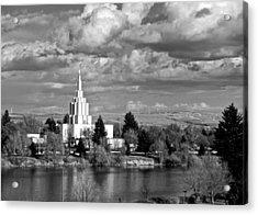 Idaho Falls Temple Acrylic Print by Eric Tressler