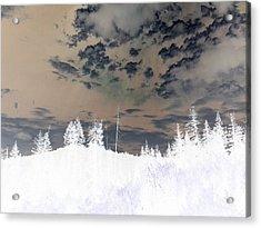 Idaho Landscape In Negative Effect Acrylic Print
