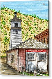 Idaho Springs Firehouse Acrylic Print by Ric Darrell