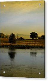 Idaho Tree Reflections  Acrylic Print by Mary Gaines