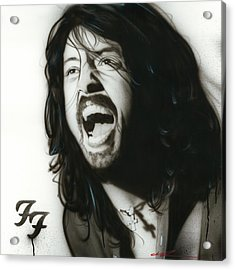 Dave Grohl - ' If Everything Could Ever Feel This Real Forever ' Acrylic Print by Christian Chapman Art