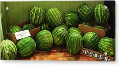 If I Had A Watermelon Acrylic Print by Patricia Greer