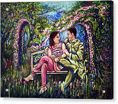 Acrylic Print featuring the painting If I Will Get Your Love by Harsh Malik