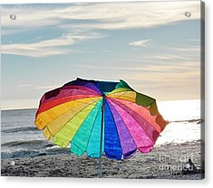 If Life Were Just A Rainbow All The Time Acrylic Print by Judy Via-Wolff