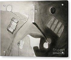 If Not Left In Gods Hands Acrylic Print by Peter Piatt