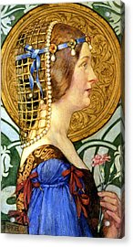 If One Could Have That Little Head Of Hers Acrylic Print by Eleanor Fortescue Brickdale