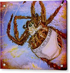 If Orb Weavers Wore Underwear Acrylic Print