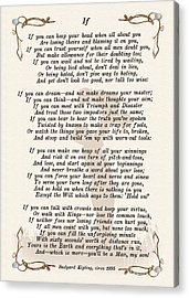If Poem By Rudyard Kipling Acrylic Print