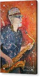If Rich Played Sax Acrylic Print