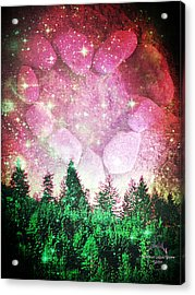 If The Sky Was Pink... Acrylic Print by Absinthe Art By Michelle LeAnn Scott