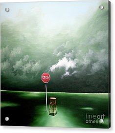 Acrylic Print featuring the painting If You Were Waiting For A Sign This Is It by Ric Nagualero