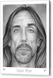 Iggy Pop Acrylic Print by Greg Joens