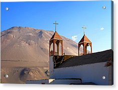Iglesia De San Geronimo Poconchile Chile Acrylic Print by Kurt Van Wagner