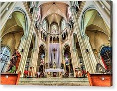Iglesia De San Isidro De Coronado In Costa Rica Acrylic Print by Andres Leon