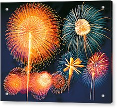 Ignited Fireworks Acrylic Print by Panoramic Images