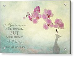 Ikebana With Message Acrylic Print