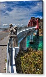 Ikei Island Bridge Acrylic Print by Chris Rose