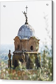 The Bell Tower Of Sant'agostino - Pietrasanta Acrylic Print