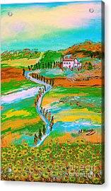 Acrylic Print featuring the painting  Tuscan Countryside by Loredana Messina