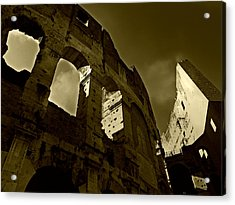 Acrylic Print featuring the photograph Il Colosseo by Micki Findlay