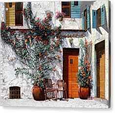 Il Cortile Bianco Acrylic Print by Guido Borelli