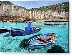 Il Mare Smeraldo Acrylic Print by Guido Borelli
