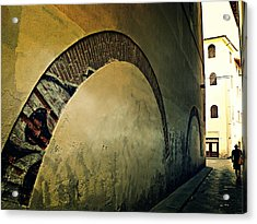 Acrylic Print featuring the photograph Il Muro  by Micki Findlay