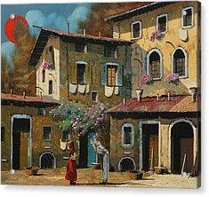Il Notaio E Il Marinaio Acrylic Print by Guido Borelli