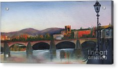 Il Ponte Santa Trinita Acrylic Print by Leah Wiedemer