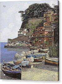 il porto di Sorrento Acrylic Print by Guido Borelli