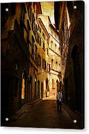 Acrylic Print featuring the photograph Il Turista by Micki Findlay