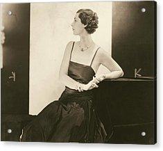 Ilka Chase In A Taffeta Dress Acrylic Print