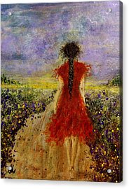 Acrylic Print featuring the painting I'll Be There... by Cristina Mihailescu