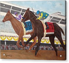 I'll Have Another Wins Preakness Acrylic Print by Glenn Stallings