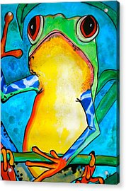 I'll Have The Fly Acrylic Print by Debi Starr